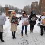 В масках мишек и лисичек: зоозащитники Самары вышли на митинг против шуб
