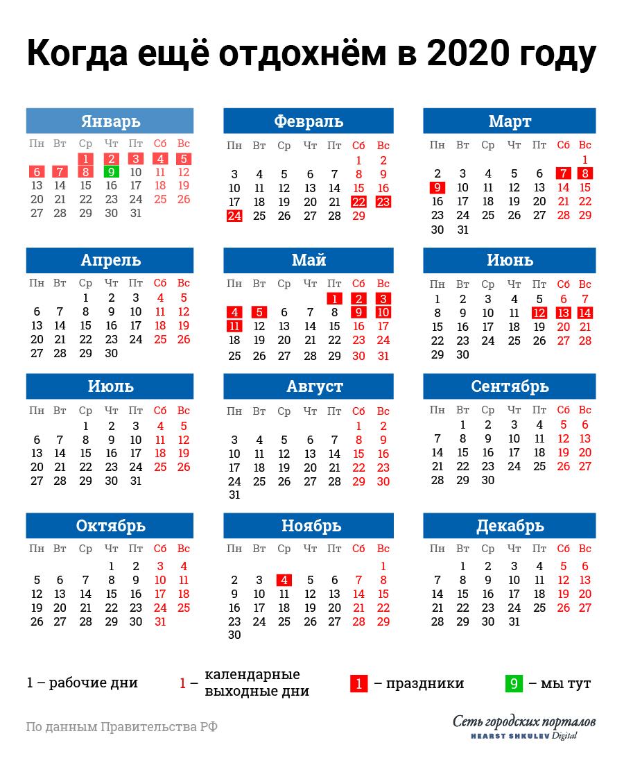 Ближайшие красные дни будут в конце февраля<br><br>