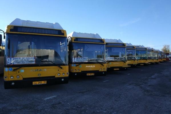 Только такие автобусы должны сегодня курсировать по маршрутам №94 и 96