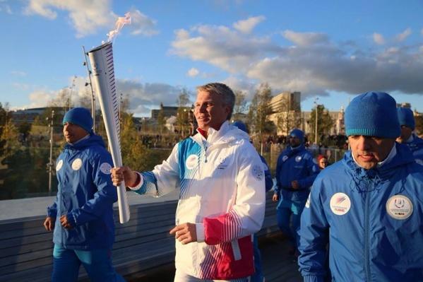 В субботу, 29 сентября, огонь студенческих игр пронесли по Москве