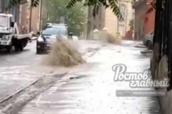 Доломановский превратился в реку после ливня