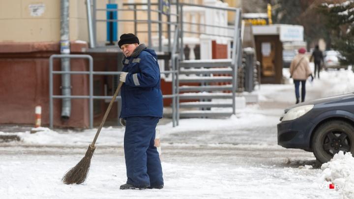 В Волгоградской области выпадет небольшой снег и ожидается гололёд