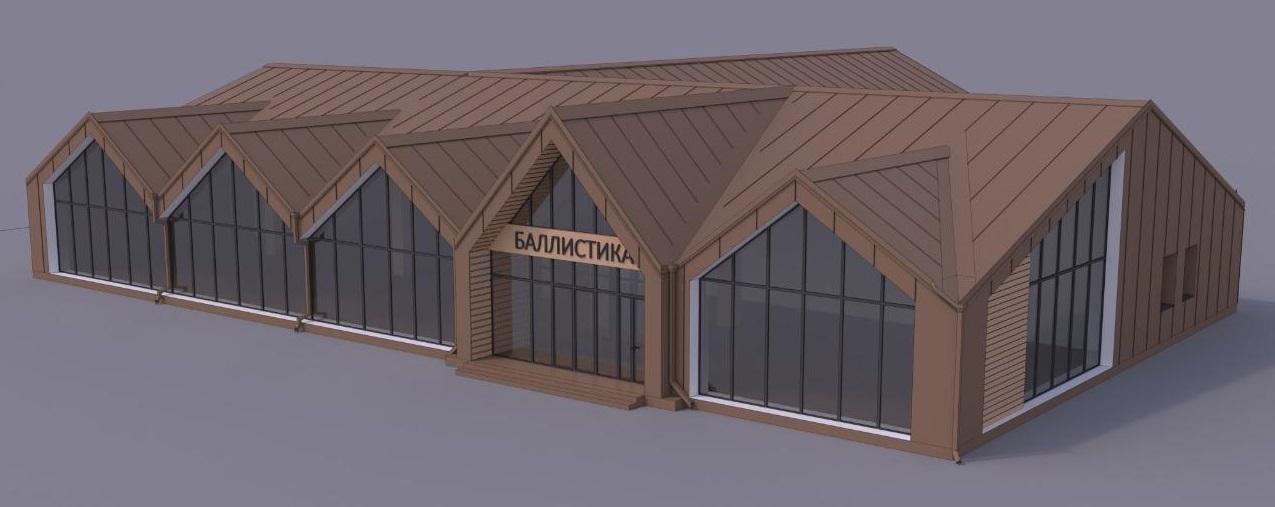 Магазин будет выполнен из дерева и стекла