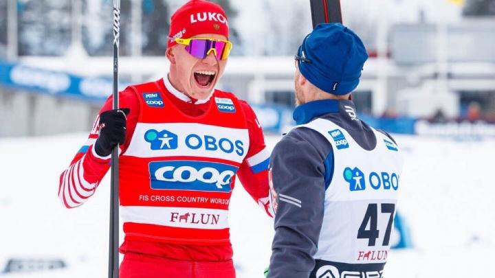 Тюменский лыжник Александр Большунов выиграл индивидуальную гонку на этапе Кубка мира в Швеции