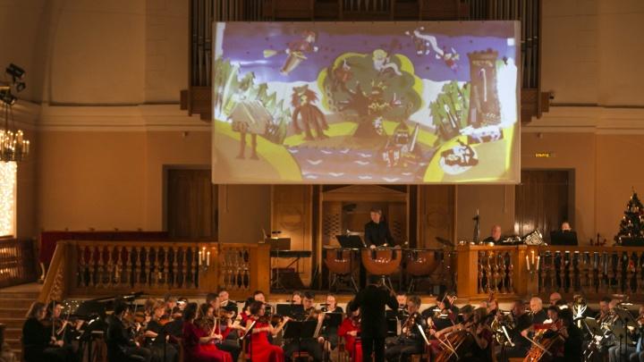 «Симфонический роман» под Новый год: смотрим самый музыкальный фоторепортаж из архангельской Кирхи