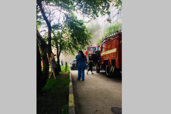 Площадь пожара составила 16 кв. м