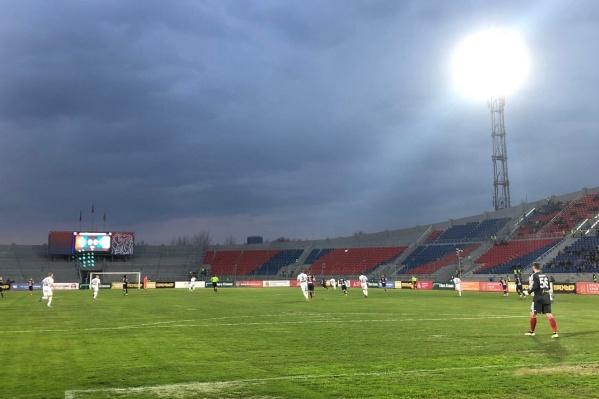 Матч прошел на Центральном стадионе Красноярска