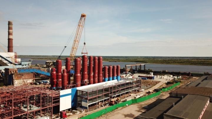 На АЦБК смонтирован и запущен в работу контур отопления здания новой выпарной станции