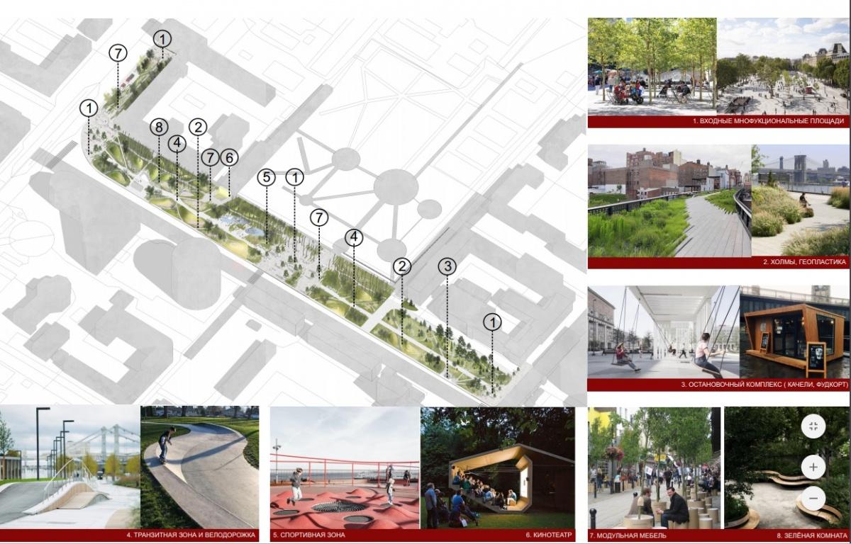 Фуд-корт, зелёный луг и лобби: горожан пригласили обсудить проект обустройства сквера на Белинского