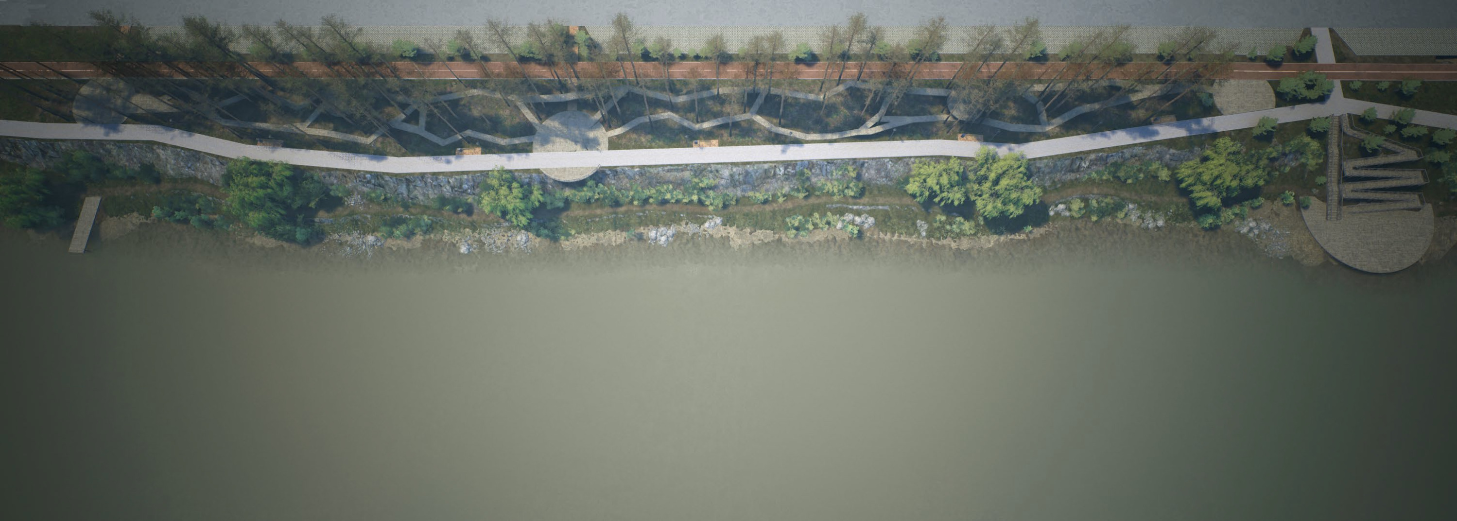 В самой узкой части набережной предложили устроить полосу препятствий