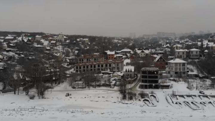 «Как будто село под Ярославлем»: самарец запустил коптер над зимней Девятой просекой
