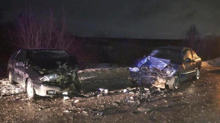 В ДТП под Краснокамском пострадали водитель и пассажир иномарки