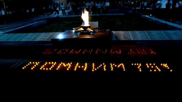 В честь 75-летия освобождения Ростовской области в Аксае провели акцию памяти