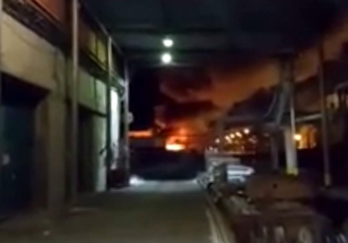 Ночью на тобольской площадке Сибура произошел пожар