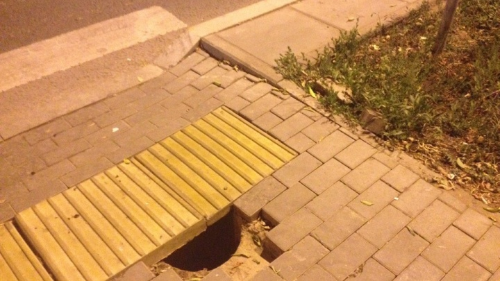 «Ловушка для зазевавшихся»: на Мехзаводе возле Московского шоссе обвалилась плитка