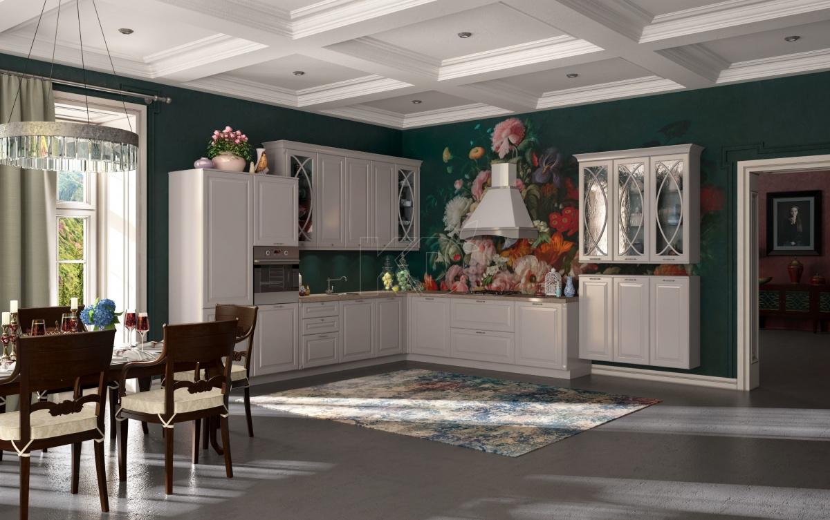 Для тех, кто не хочет эффектных акцентов, идеально подойдет белоснежный цвет и рельефные фасады, которые придадут всей комнате благородный внешний вид