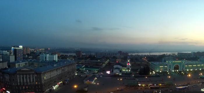 Панорама на Новосибирск из окна гостиницы «Маринс Парк Отель»