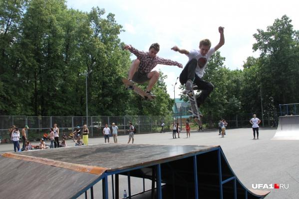 Любители скейтов могут отвести душу в парке Гафури