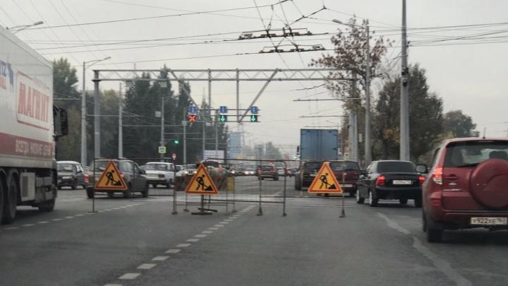 В Самаре вслед за Ново-Садовой перекрывают Московское шоссе