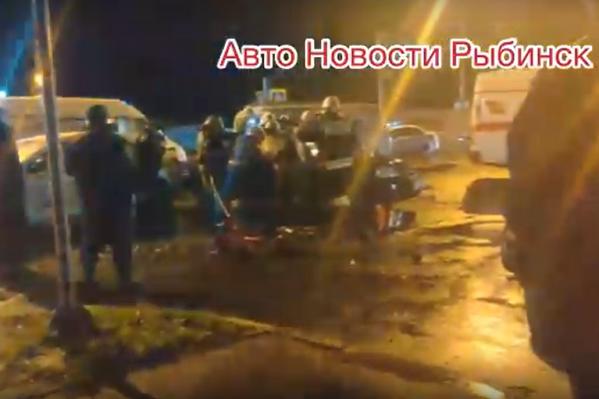ДТП в Рыбинске произошло около двух часов ночи