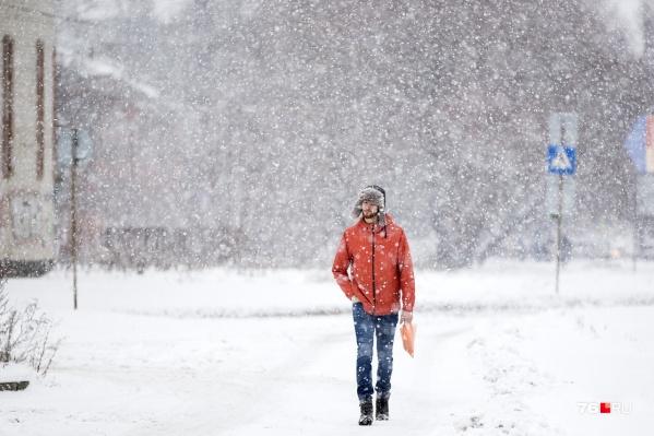 Снег будет валить и валить...