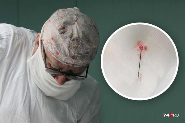 Иголку из лёгкого достал главный детский хирург Челябинской области Николай Ростовцев
