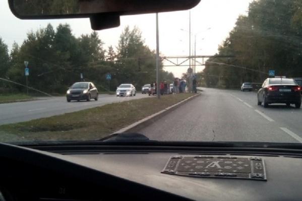 Авария произошла недалеко от магазина «Светофор»