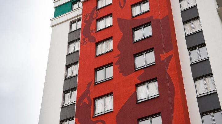 Бросили тень на весь квартал: на стене дома в спальном районе сделали огромный рисунок