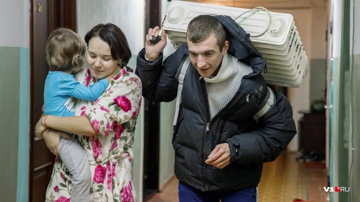 «Обещали прийти завтра»: сотни волгоградцев из замерзающего района Волгограда не дождались тепла