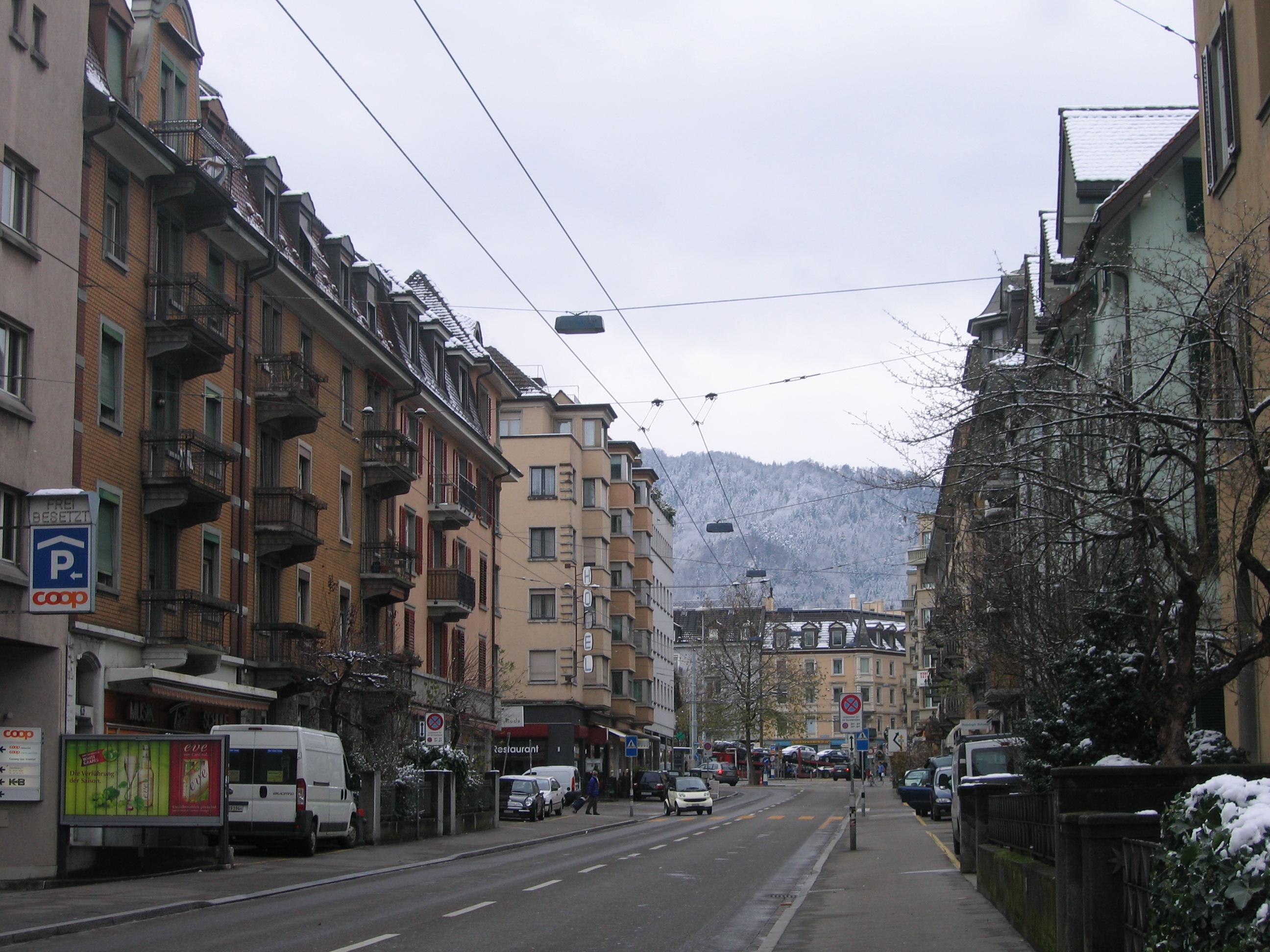 На снимке — окраина Цюриха