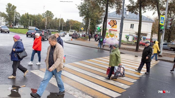 В Ярославле придумали, как избавиться от луж на пешеходных переходах
