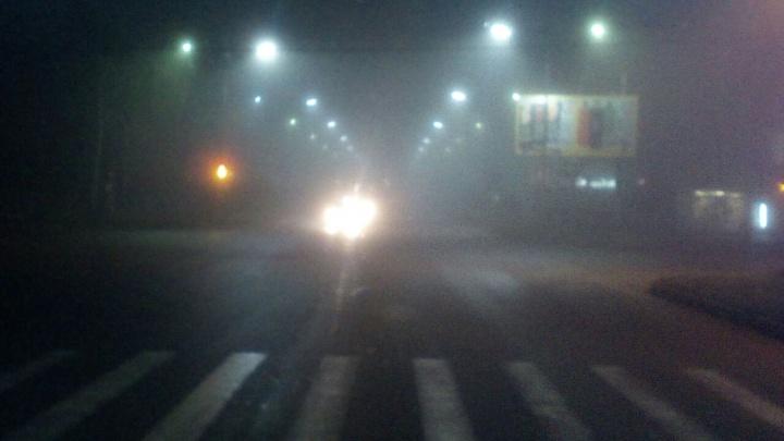Трасса под Новосибирском исчезла в тумане