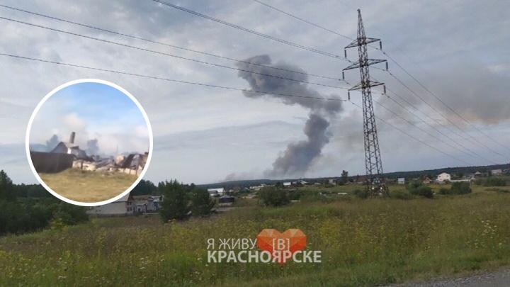 Первое видео после взрыва на складе боеприпасов из Каменки: как сейчас выглядит деревня под Ачинском