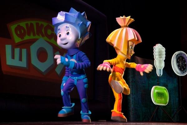Маленькие северяне встретились с героями любимого мультфильма «Фиксики» в новогоднем шоу «Спасатели времени»