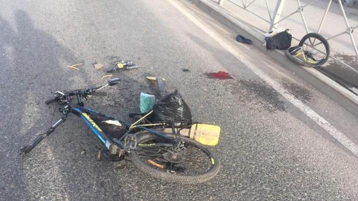 В Перми BMW сбил велосипедиста на шоссе Космонавтов