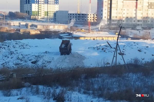 Снег в Чурилово стали вывозить с начала января