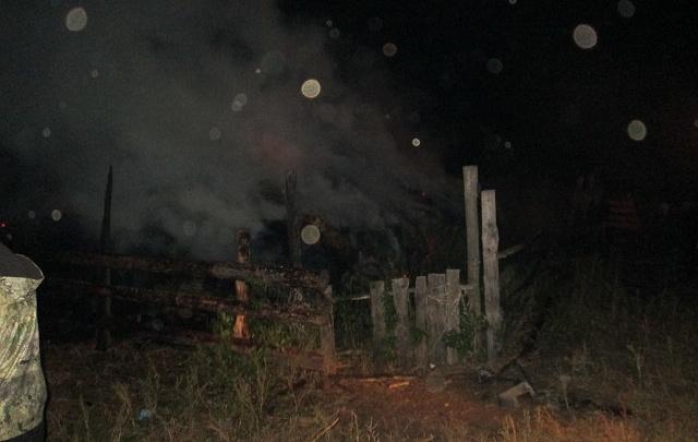 В Курганской области сено уничтожено огнем