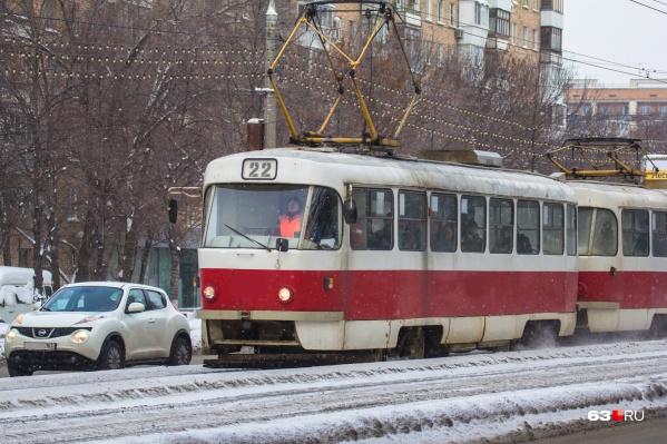 По 22-му маршруту в городе курсируют 12 трамвайных поездов