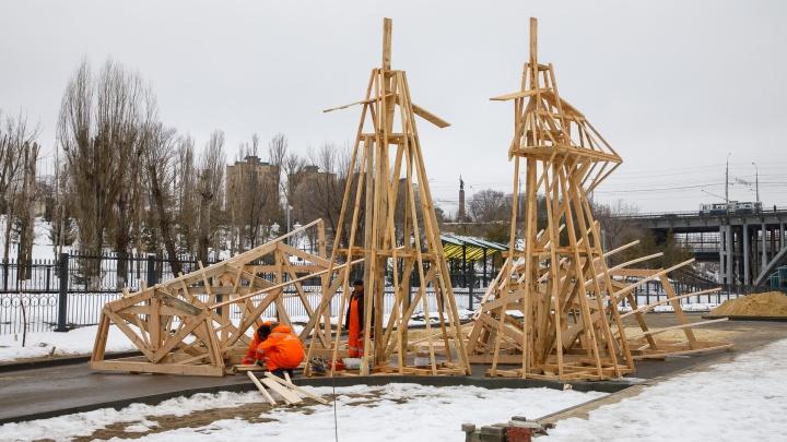 «Дадим снежинку и сожжем зиму, которой не было»: в Волгограде собирают самую высокую Масленицу России