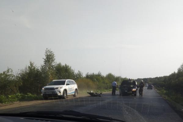 Авария случилась примерно в 09:30 на трассе Рыбинск — Глебово