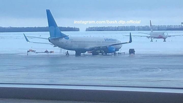 В Уфе самолет «Победы» выкатился за пределы взлетной полосы