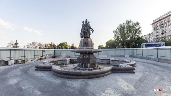 9 Мая в железной коробке: фонтану «Искусство» устроили очередной ремонт за 17 миллионов