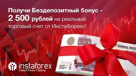 ИнстаФорекс дарит 2 500 рублей на торговый счёт