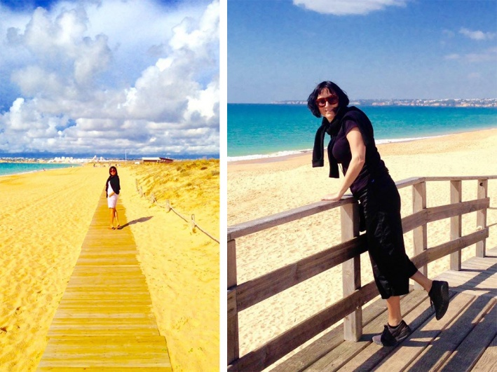 Марина ездит за мужем по разным странам, где он работает