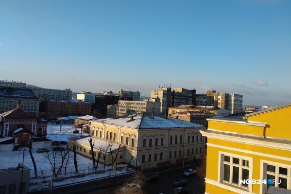 Голубое и чистое небо над Красноярском