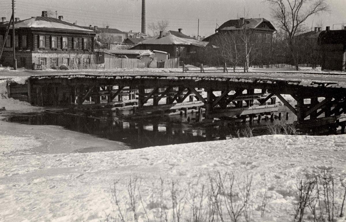 Сплавной мост сейчас реконструируют