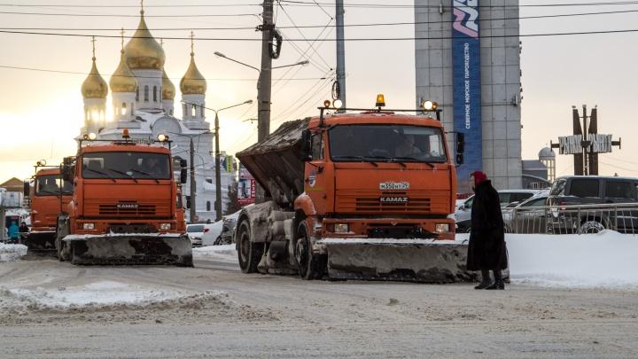 Администрация Архангельска готовится заключить трехлетний контракт по содержанию городских дорог