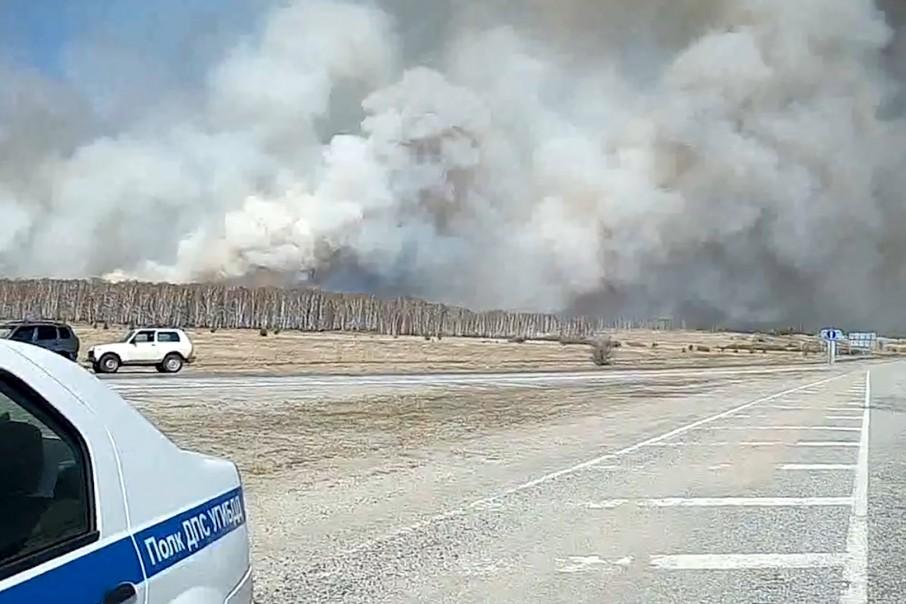 Огонь угрожает реликтовому лесу в Пластовском районе