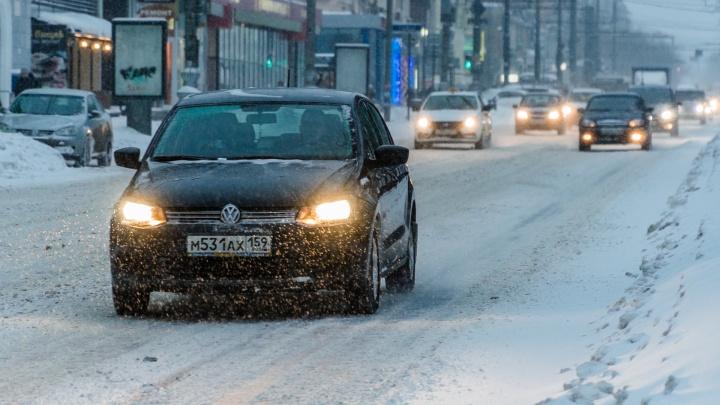 В Прикамье начнется ливневый снегопад — к вечеру похолодает до -10 градусов