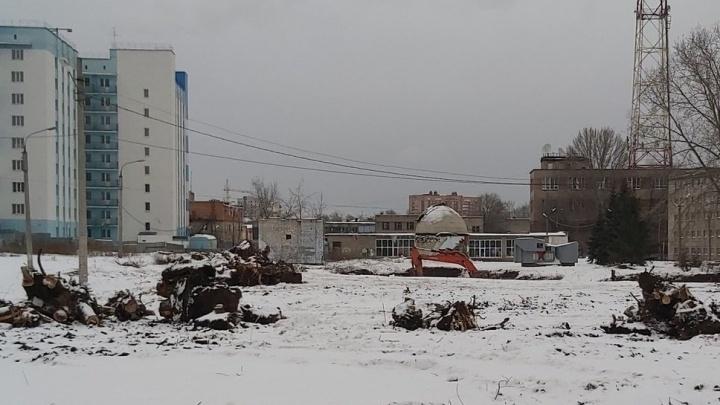 В Самаре снова начали засыпать пруд с тритонами около социально-педагогического университета